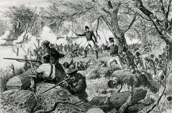 Outnumbered Canadian and Mohawk sharpshooters save la Fleuve Saint-Laurent from Yankee invaders at the Battle of Chateauguay
