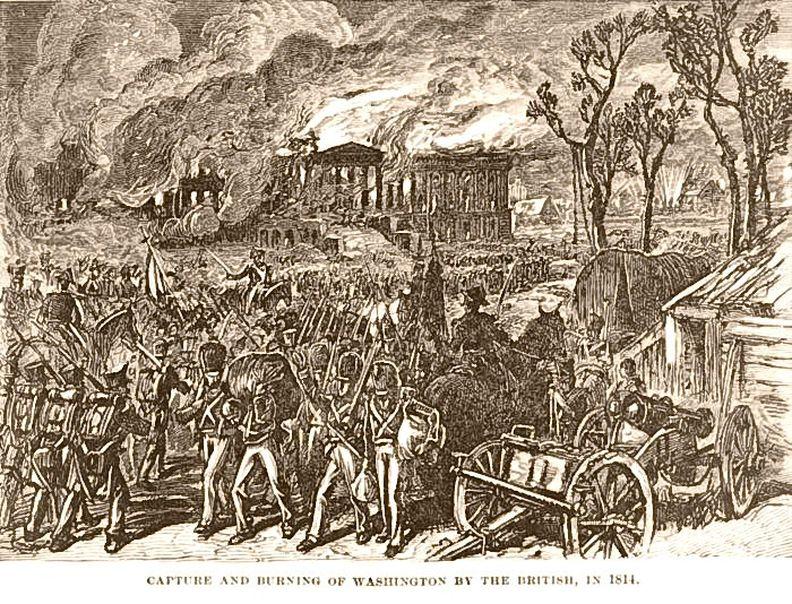 Burn, Baby, Burn! British forces burn down Washington DC (1814)