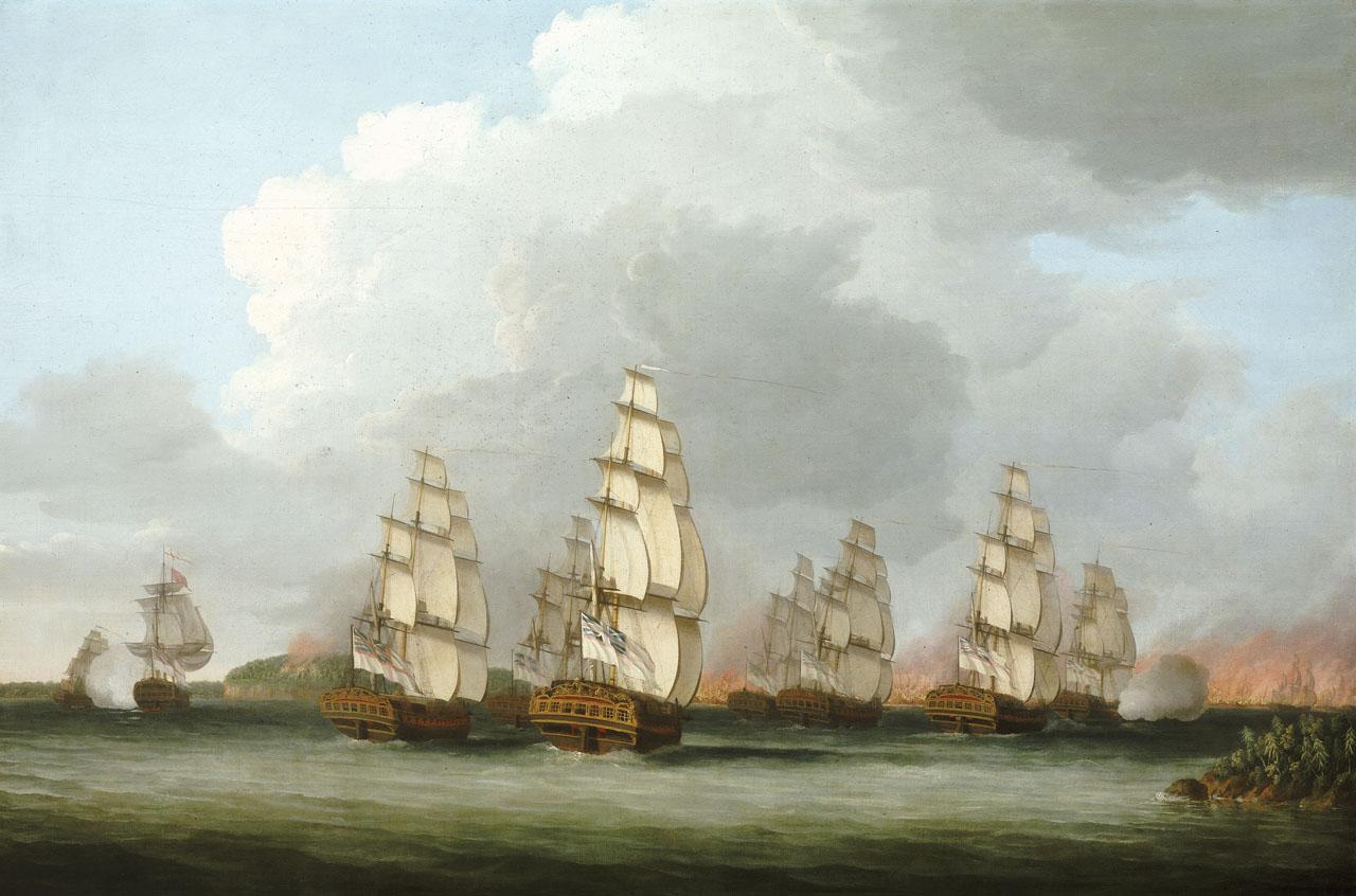 Royal Naval ensnares American rebels in Penobscot Bay, New Ireland (1779)