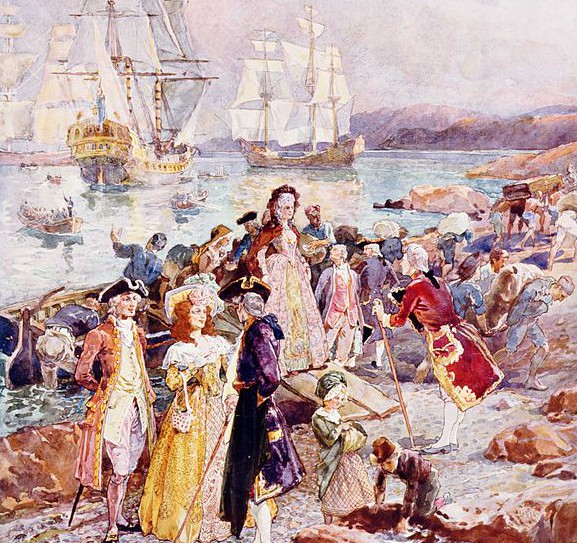 Loyalists flee north from the American mobs to New Brunswick 1783