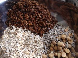 Spent grain granola (dry ingredients)
