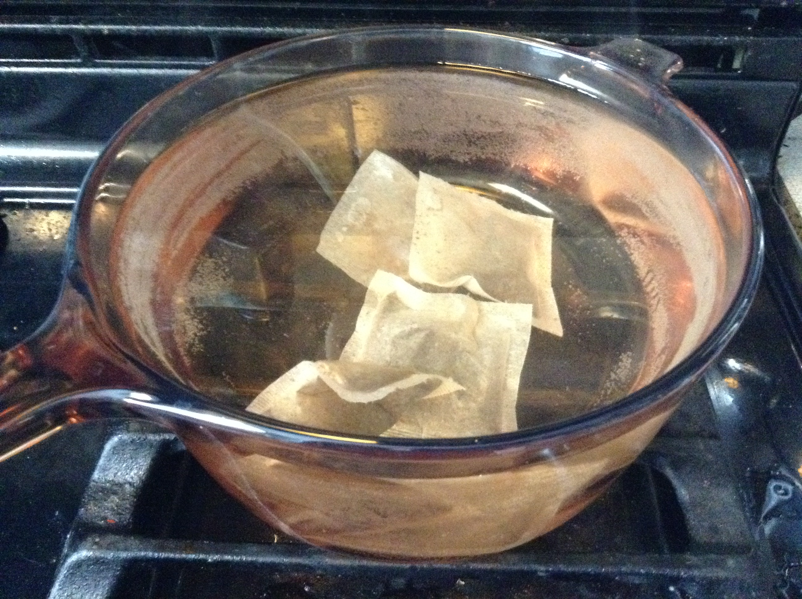 Sugar water and tea bags